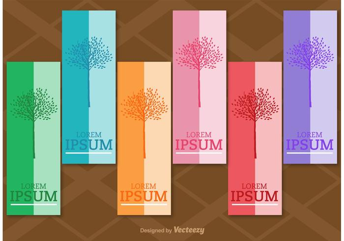 Seasonal Tree Vertical Labels