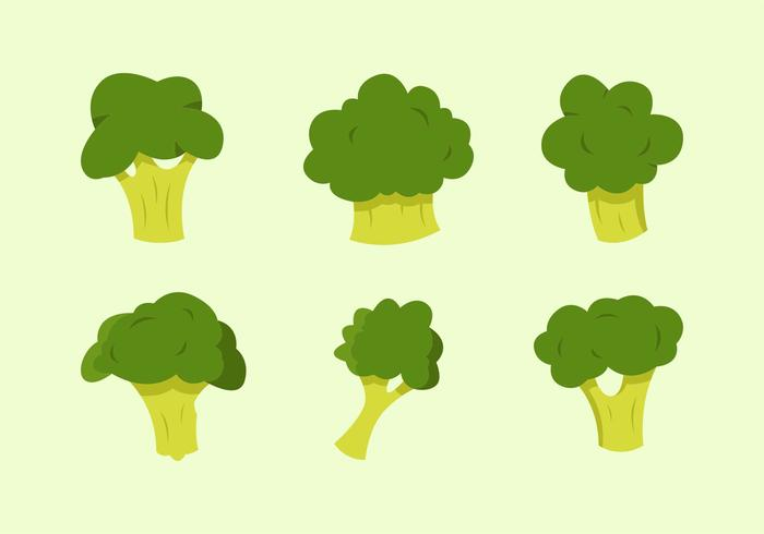 Broccoli illustrations vectorielles gratuites vecteur