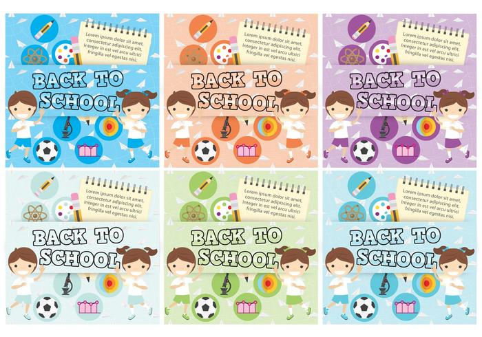 Back To School Template Vectors