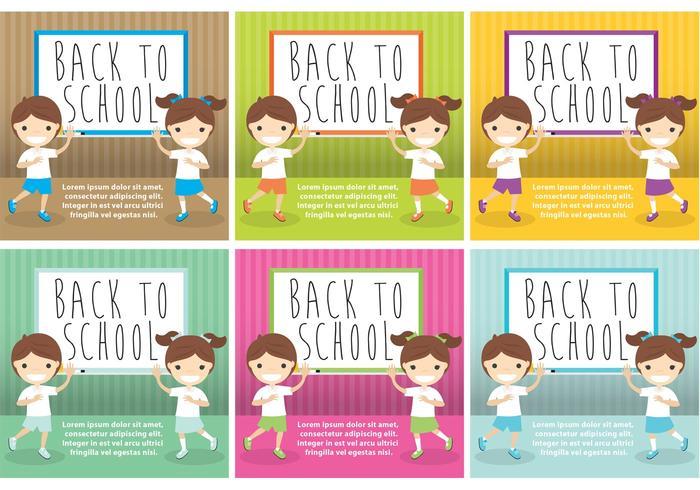 Back To School Card Vectors