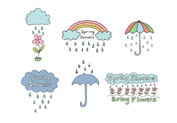 Free Spring Showers Vector Series
