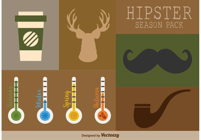 Hipster Elements Pack vector