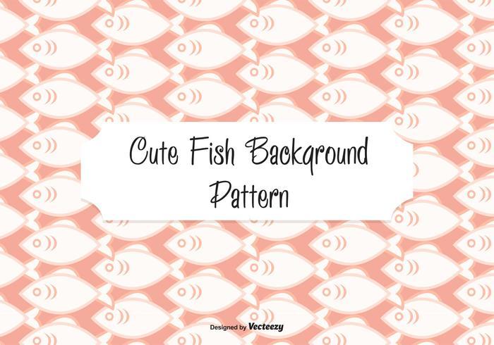 Cute Fish Pattern Background