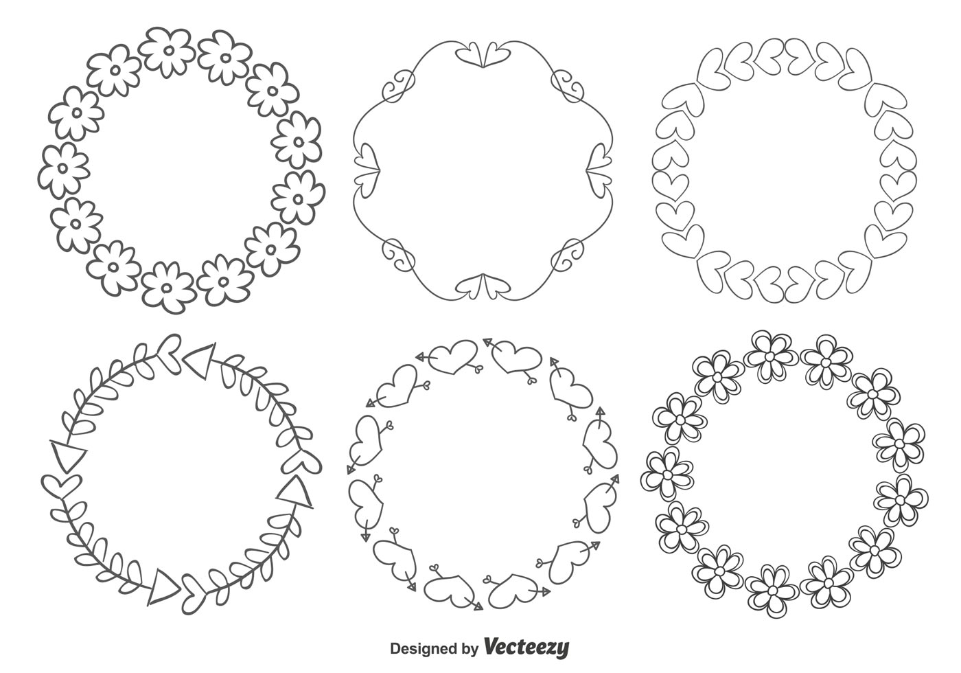 Nette Handgezeichnete Art-Rahmen - Kostenlose Vektor-Kunst, Archiv ...