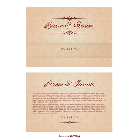 Wedding Invitation Template Download Free Vector Art Stock - Wedding invitations templates download