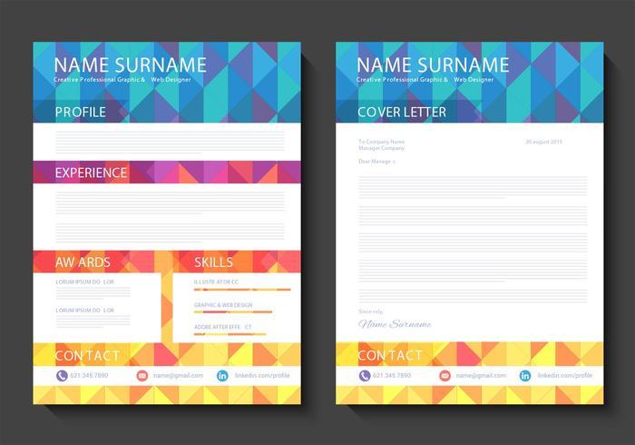 Gratis Curriculum Vitae Vector Design