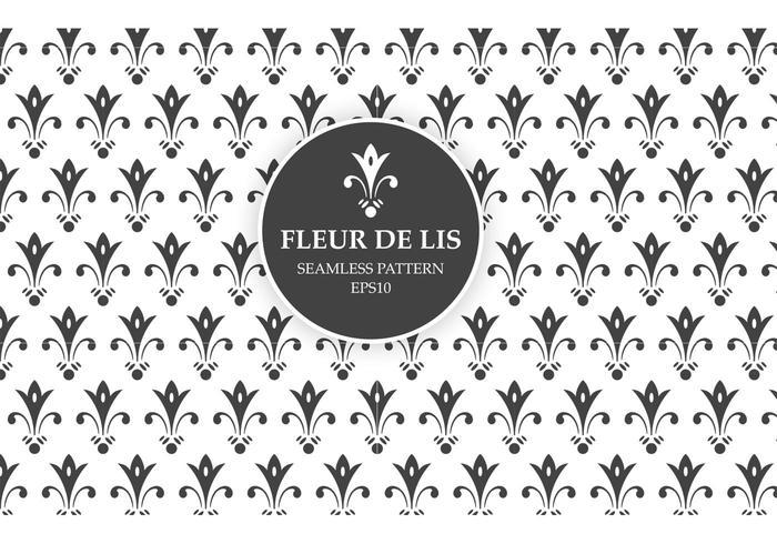 Gratis Vector Fleur De Lis sömlös mönster