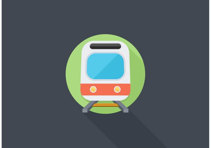 Free Railroad Train Vector Icon