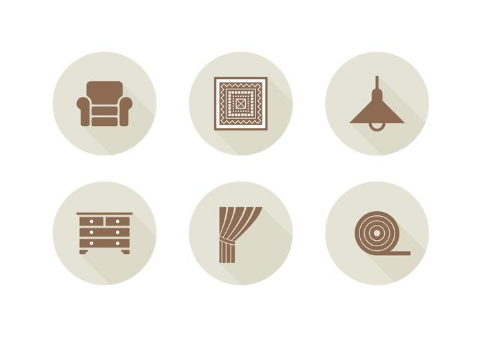 Free Home Interior Related Vector Icons