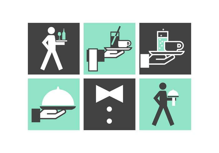 Free Butler Service Vector Icons