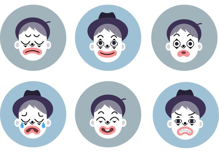 Emocional Mime Vector Set