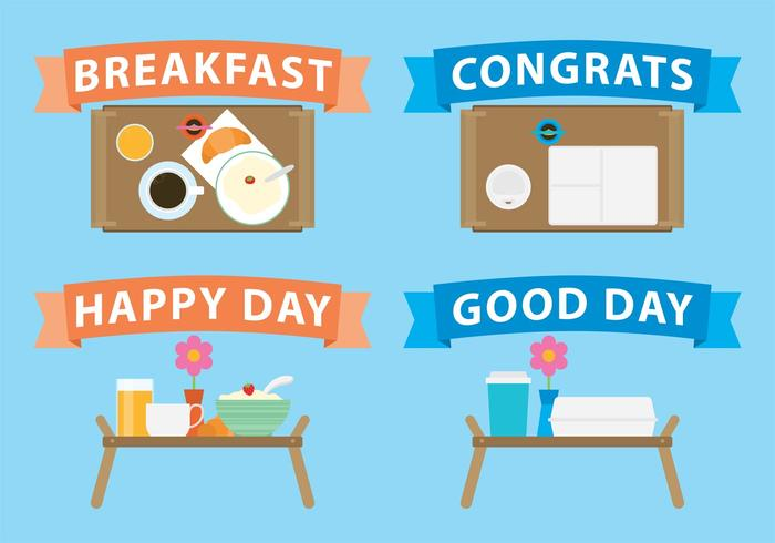 Breakfast In Bed Vectors