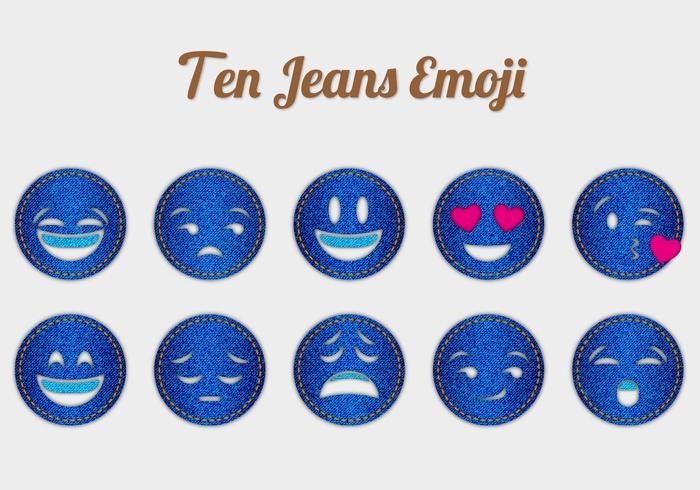 Free Jeans Emoji Vectors