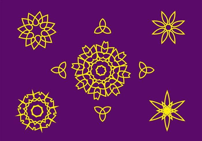 Gratis abstrakta symboler Vector