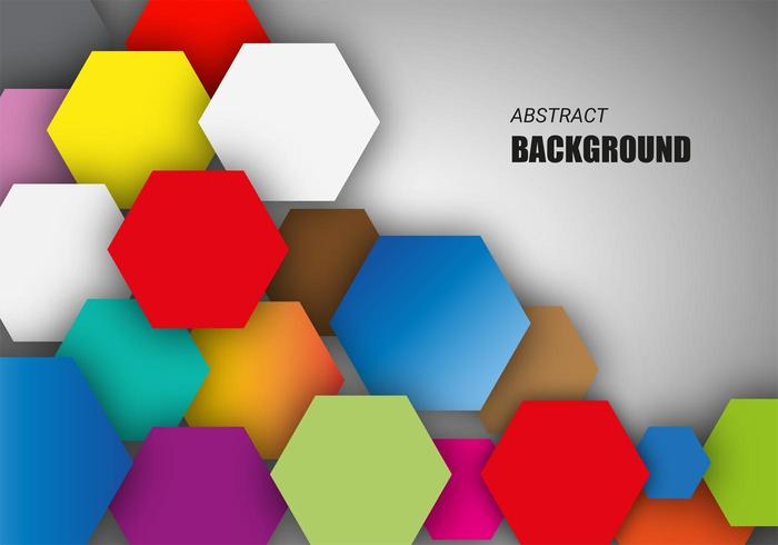 Free Colorful Hexagonal Background Vector