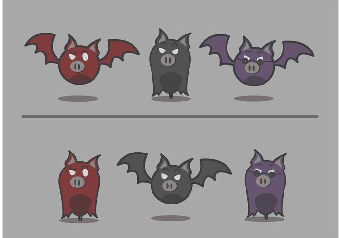 vettore della mascotte del pipistrello