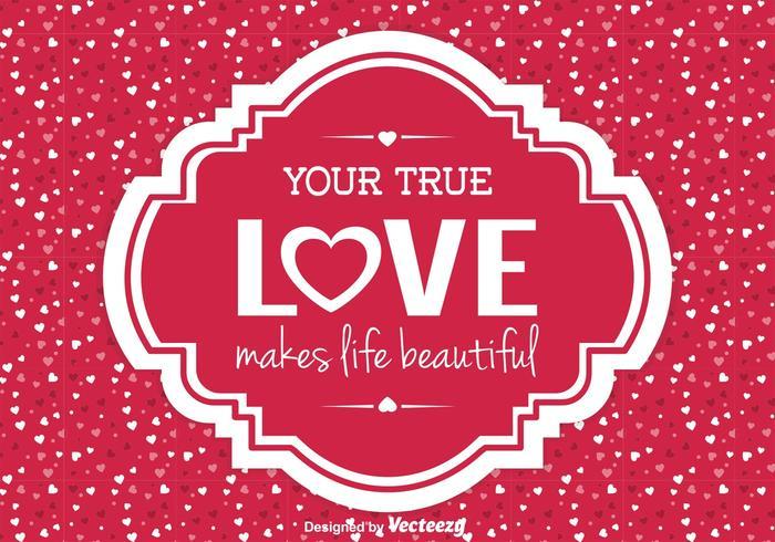 Ilustración de amor lindo