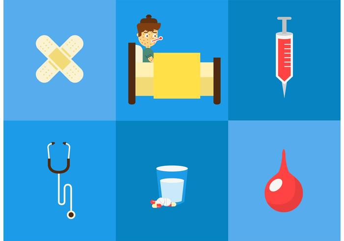 Sick Child Vector Pack