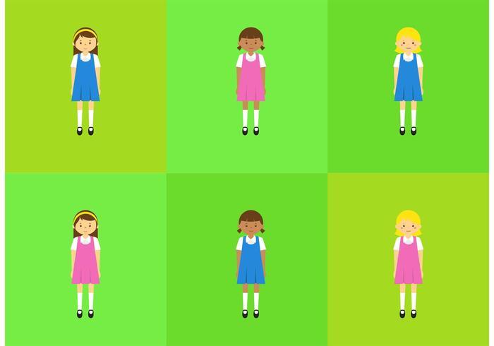 Vector School Children in Uniform