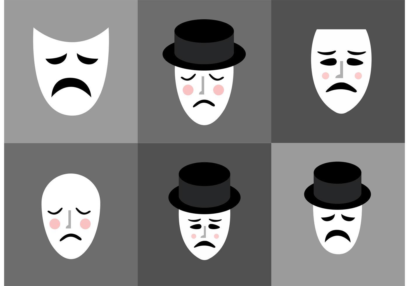 sad mime vectors download free vector art stock