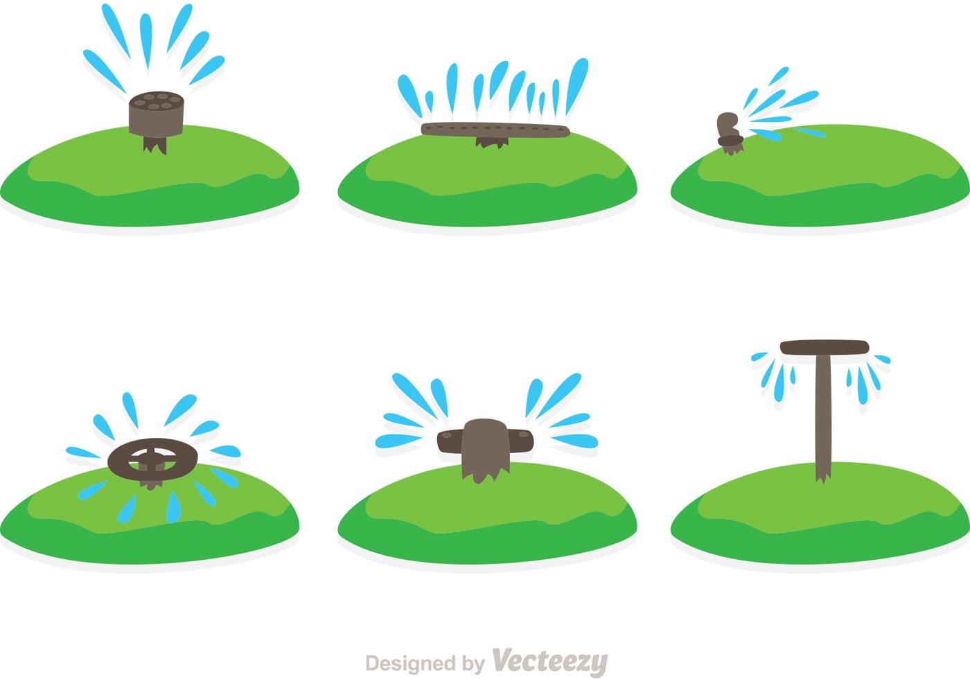 Water sprinkler vectors download free vector art stock