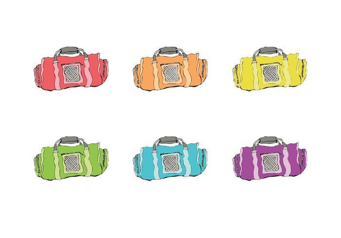 Serie libre del vector de la bolsa del duffel