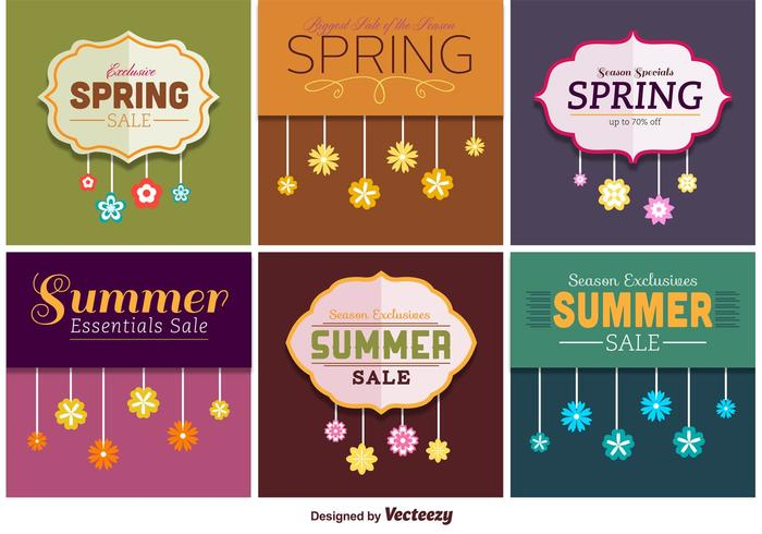 Spring and Summer Sale Signs