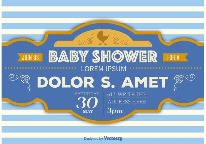 Baby Shower Retro Template