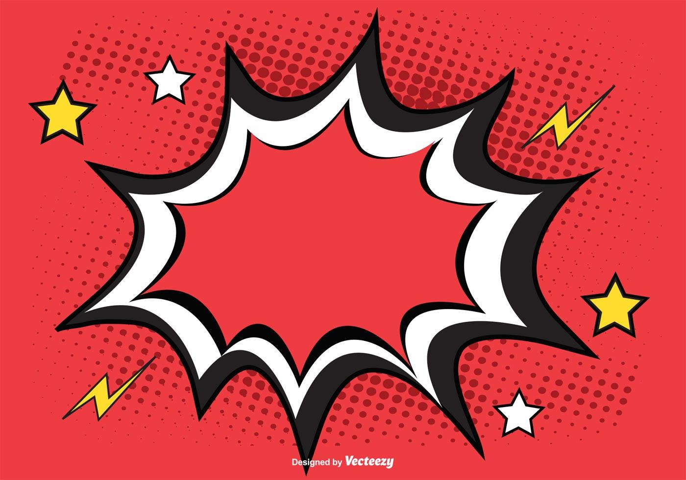 comic burst free vector art 2909 free downloads