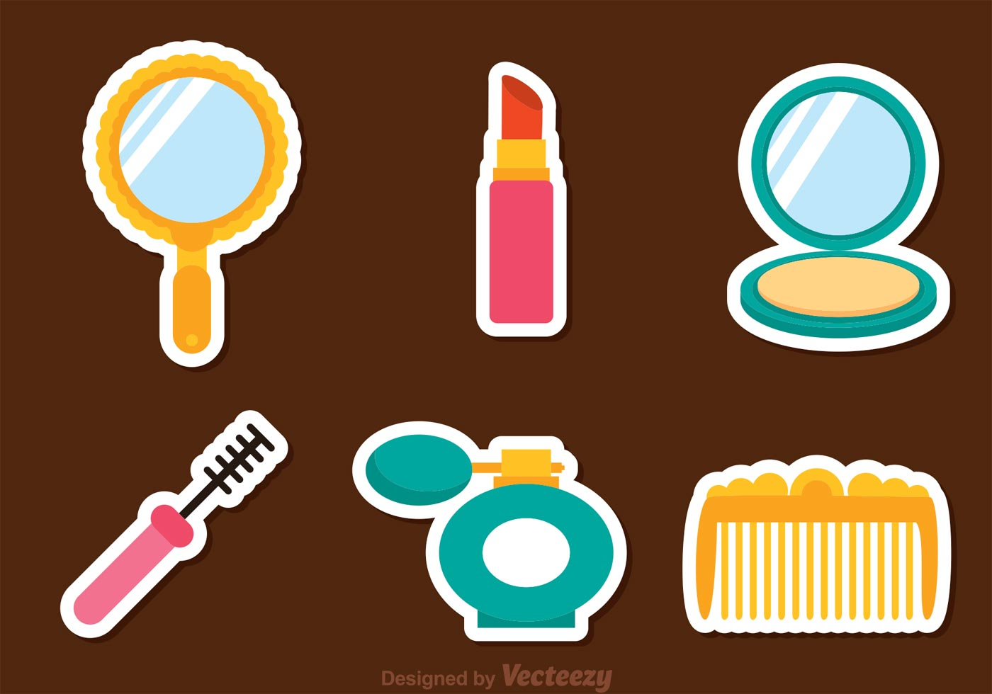 Vector Woman Cosmetic Icons Download Free Vectors