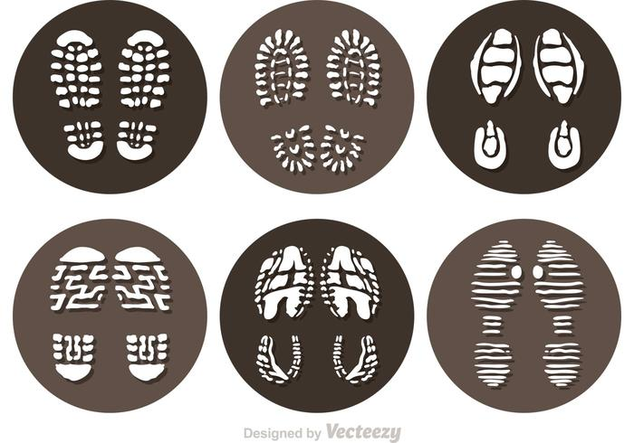 Vector Muddy Footprint Icons