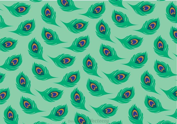 Green Tail Peacock Pattern Vector