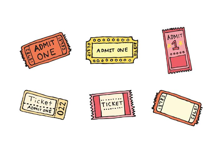 Concert Ticket Free Vector Art   Free Downloads