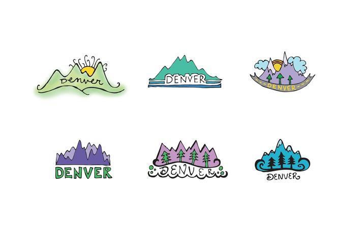Free Denver Mountains Vector Series