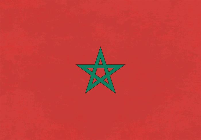 Free Vector Background Of Grunge Morocco Flag