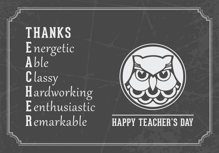 Happy Teacher's Day Vector Card