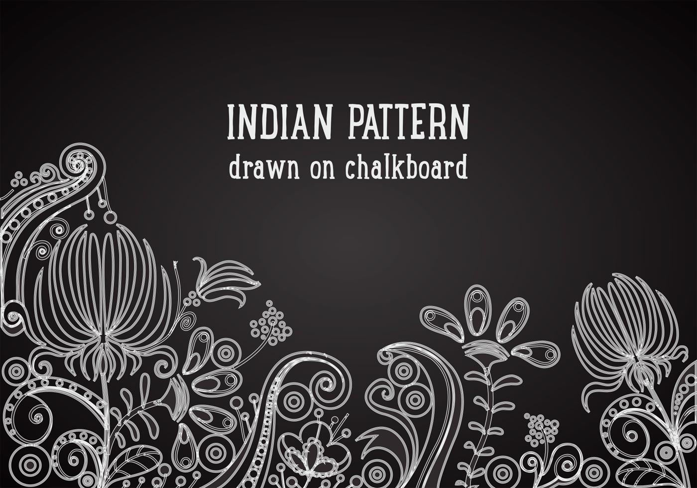 indian pattern on blackboard vector background download free