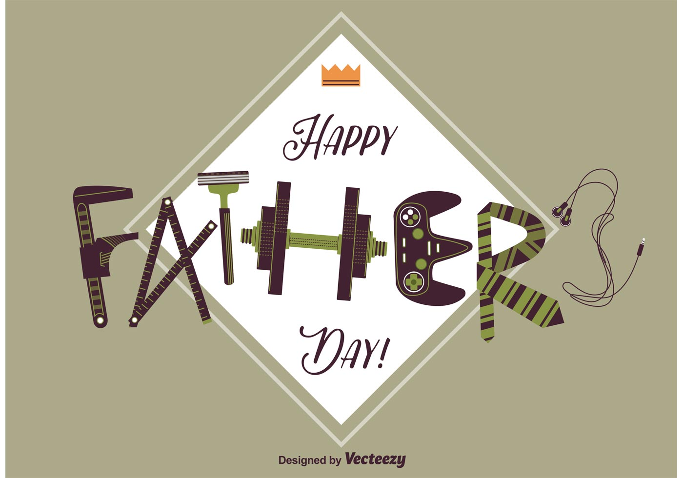 Happy Fathers Day Card Download Free Vector Art Stock Graphics
