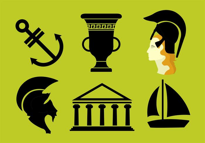 Athena Greek Goddess Vectors