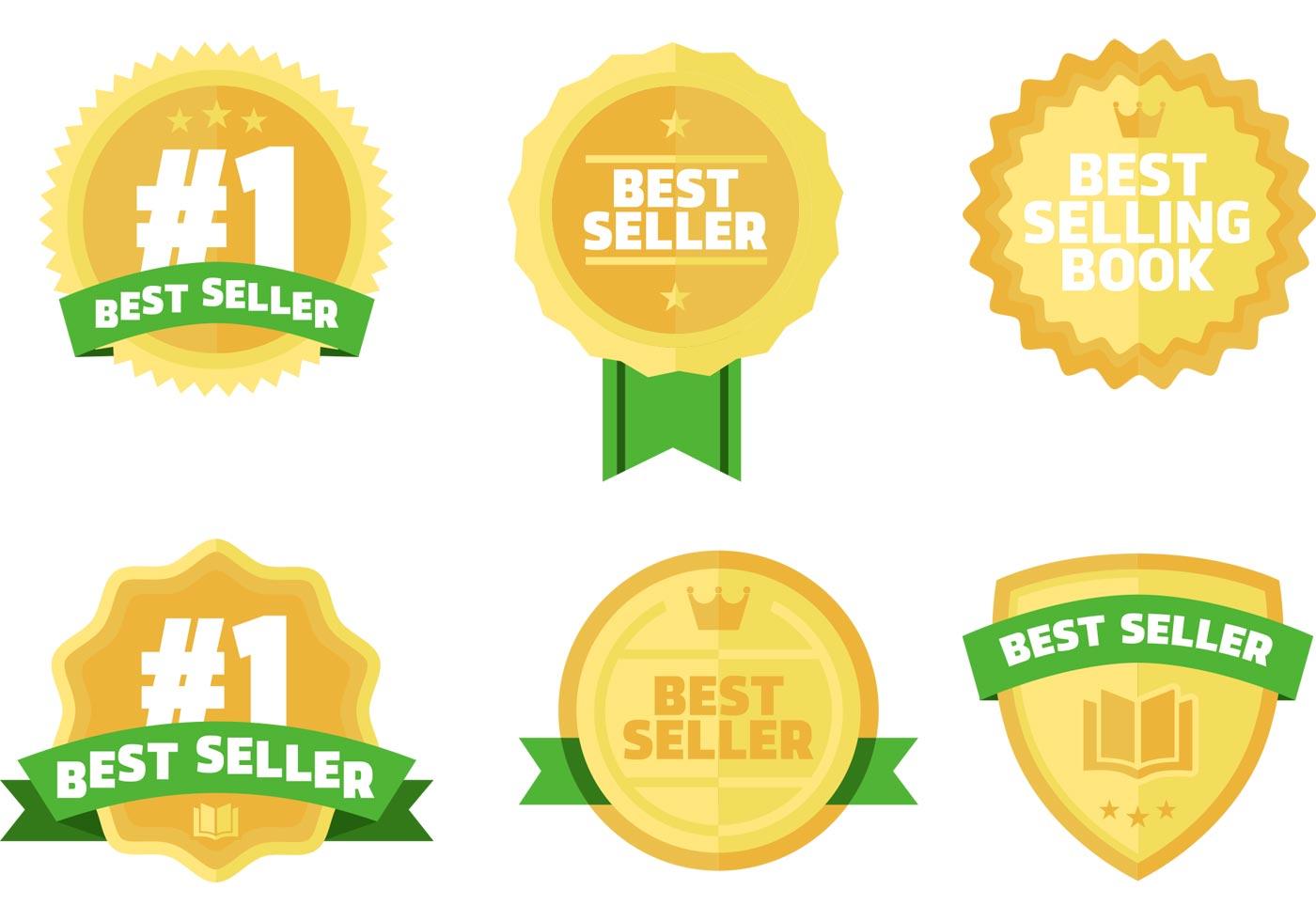 Best Sellers Books Vector Badges Free