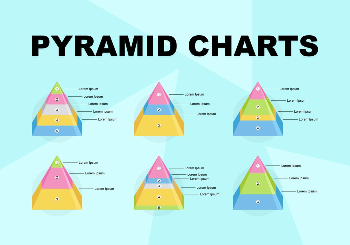 Pyramid Charts Editable Vector Graphics - Download Free ...