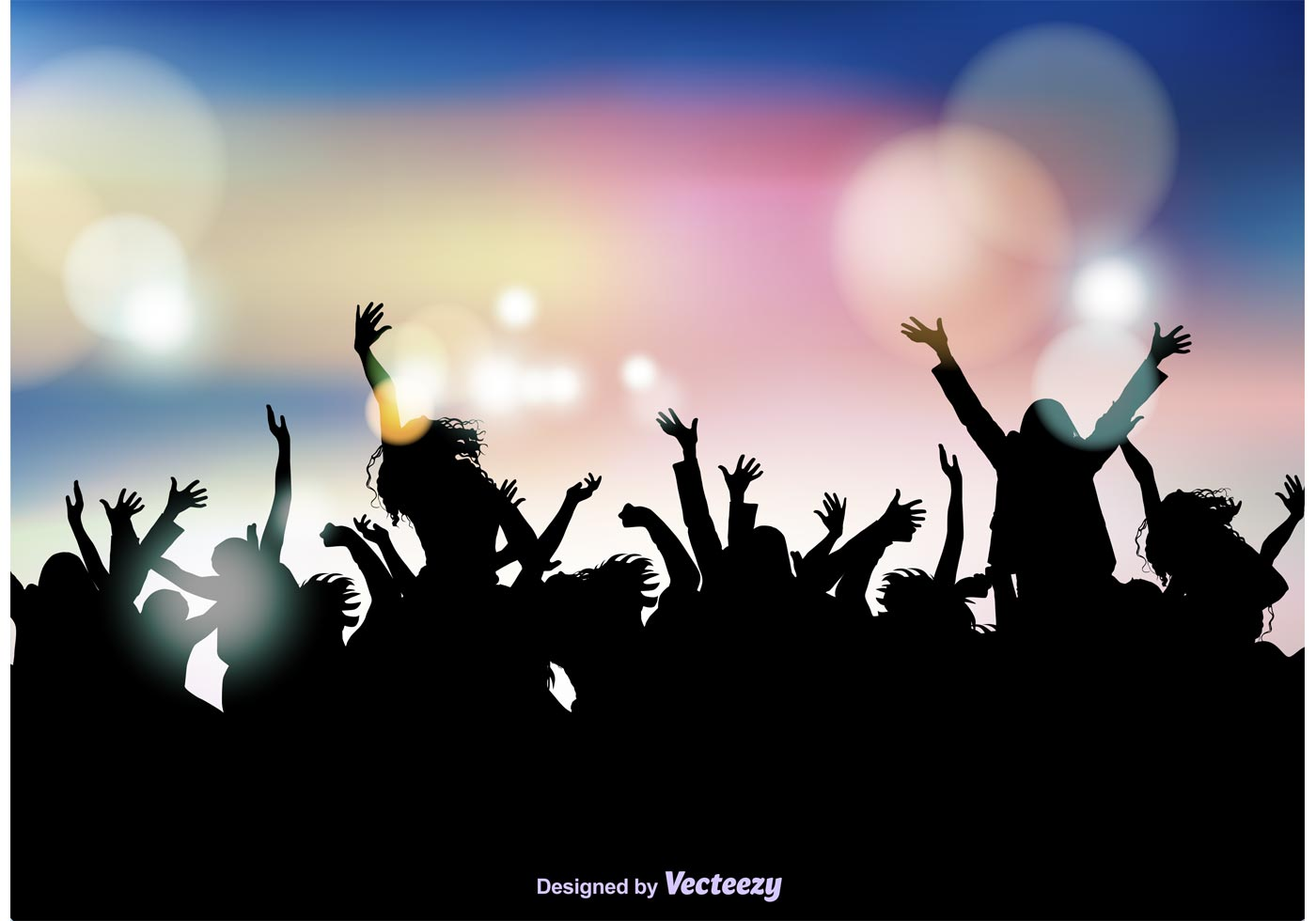 Crowd Silhouette Free Vector Art - (4,160 Free Downloads) | 1400 x 980 jpeg 73kB