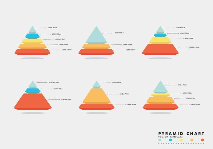 Pyramid Charts Vector Gratis