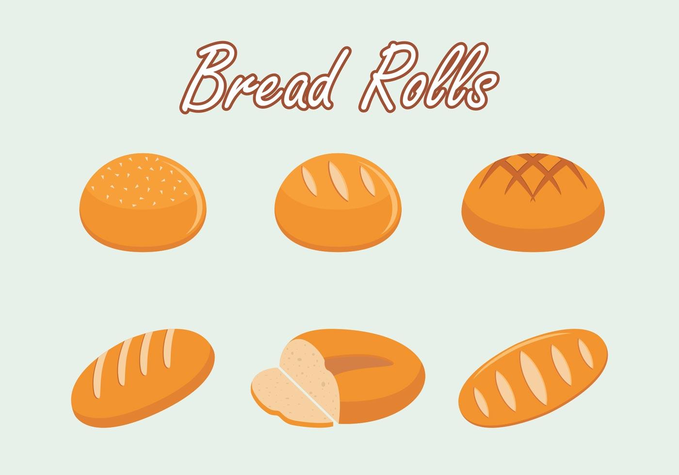 Bread Rolls Vector Free - Download Free Vector Art, Stock ...