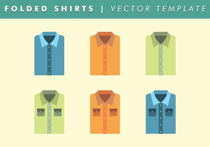 Basic Folded Shirt Template Vector Free
