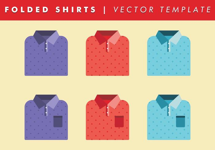 Folded Shirts Template Vector Free