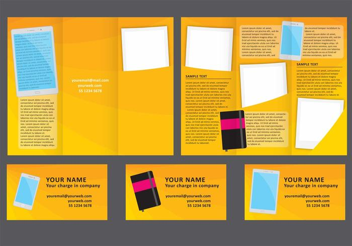 Minimal Fold Brochure Vector  Download Free Vector Art Stock