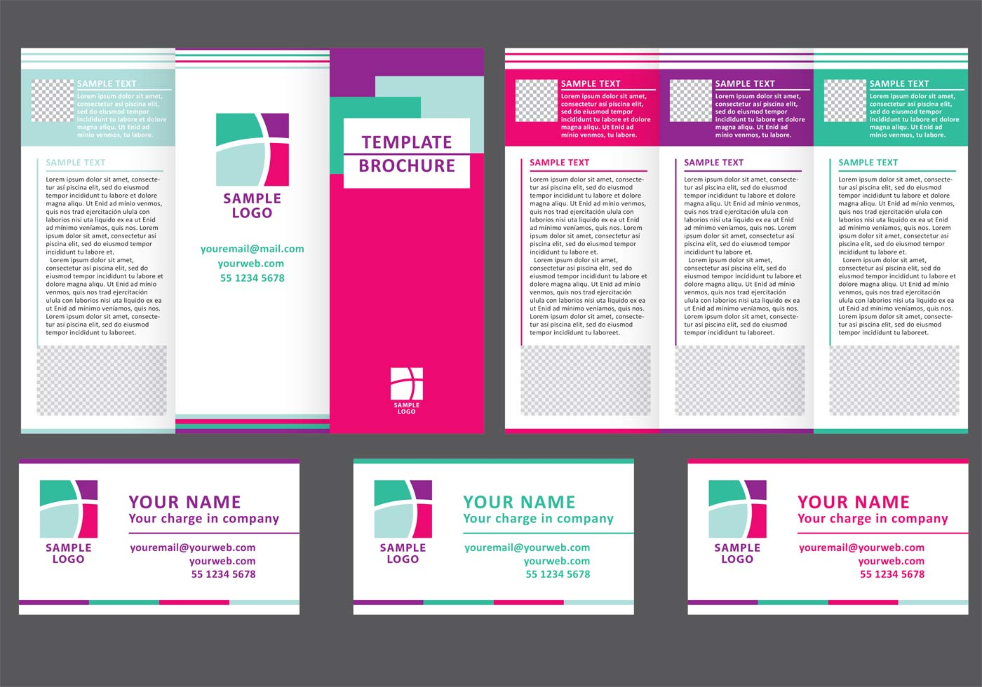 Business fold brochure vector download free vector art for Wedding planner brochure template