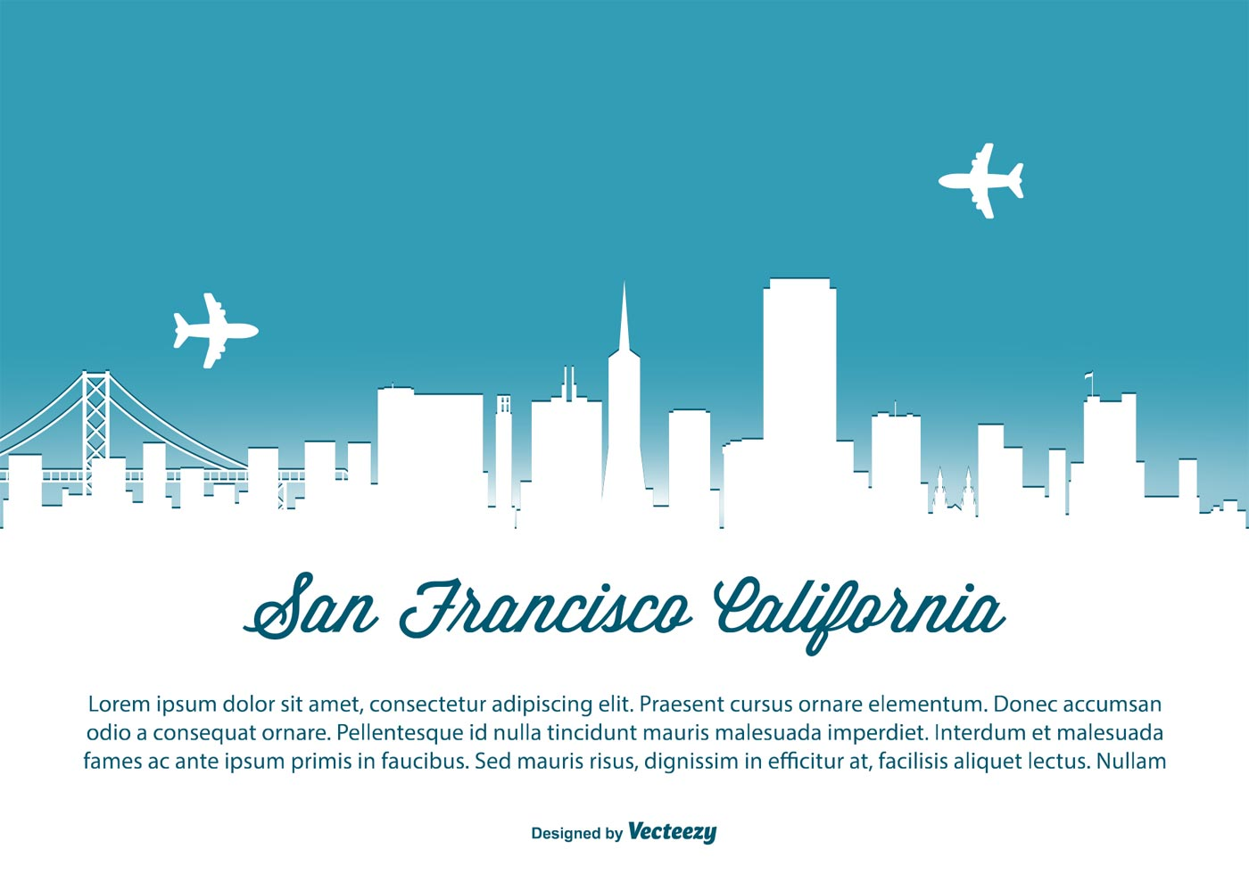 San Francisco Skyline Illustration Download Free Vector