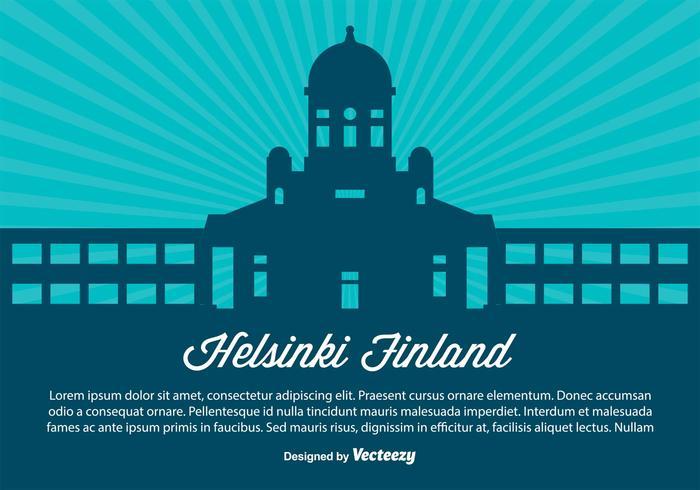Helsinki Finland Skyline Illustration